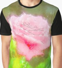Pink Roses in Anzures 3 Serene Graphic T-Shirt