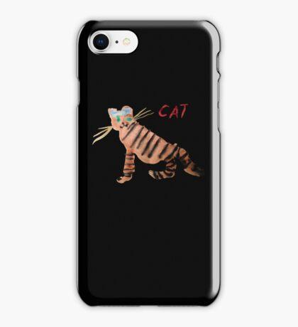 Cat on Black iPhone Case/Skin