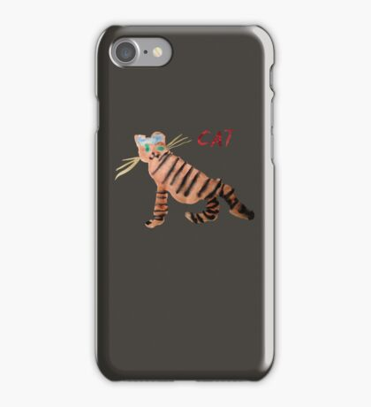 Cat on Brown iPhone Case/Skin