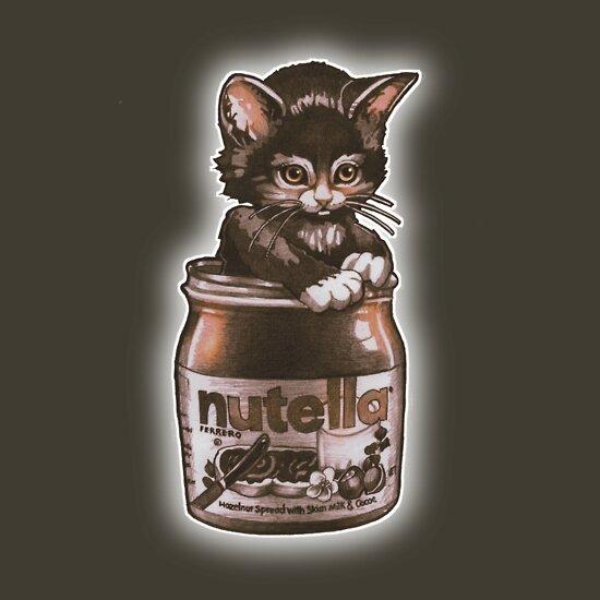 TShirtGifter presents: Kitten <3 Nutella