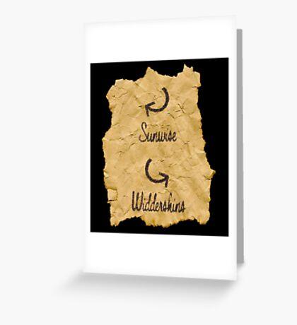 Sunwise Widdershins Greeting Card