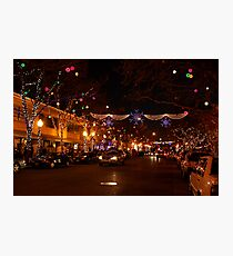 Holiday Streetscape Photographic Print