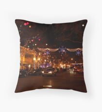 Holiday Streetscape Throw Pillow