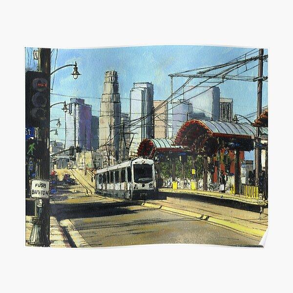 1st Street Train Station LA Poster