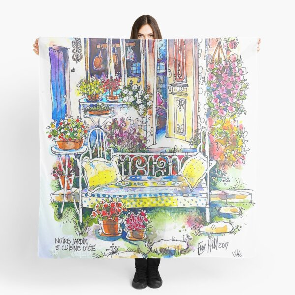 The Summer Kitchen Garden, Trausse, South of France Scarf