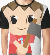 Chibi Animal Crossing Villager Vector Graphic T-Shirt