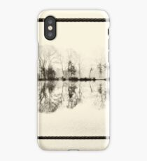 Misty morning in the park iPhone Case/Skin