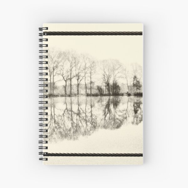 Misty morning in the park Spiral Notebook