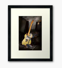 Instrument - Guitar - Playing in a band Framed Print