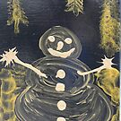SNOWMAN IN THE NIGHT by salvadorewoody