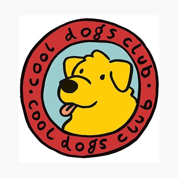cooler Hundeclub Fotodruck
