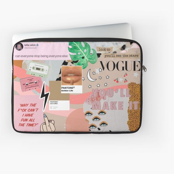 Glam Aesthetic Collage Laptop Sleeve