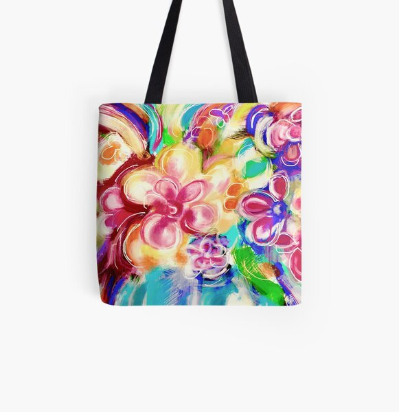 Flowers in a Vase 1.B All Over Print Tote Bag