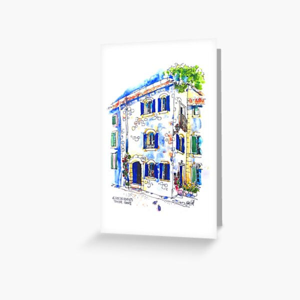 House on The Square, Trausse Minervois Greeting Card
