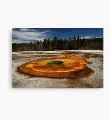 Chromatic Pool - Upper Geyser Basin - Yellowstone National Park Canvas Print