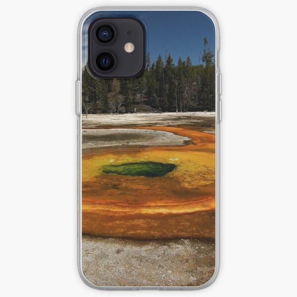 Chromatic Pool - Upper Geyser Basin - Yellowstone National Park iPhone Soft Case