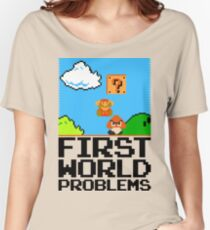 First World Problems (Black) Women's Relaxed Fit T-Shirt