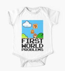 First World Problems (Black) One Piece - Short Sleeve