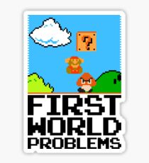 First World Problems (Black) Sticker