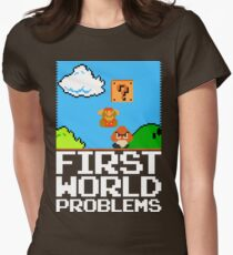 First World Problems (White) Women's Fitted T-Shirt
