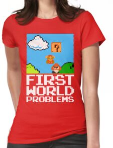 First World Problems (White) Womens Fitted T-Shirt