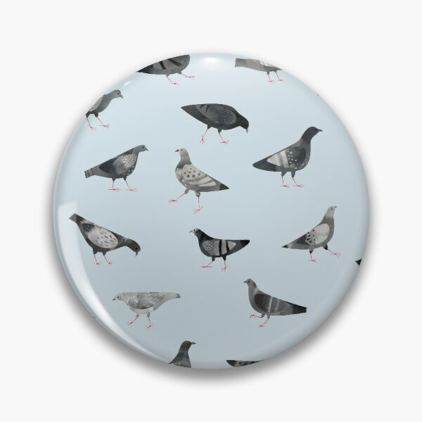 Pigeons Doing Pigeon Things Pin