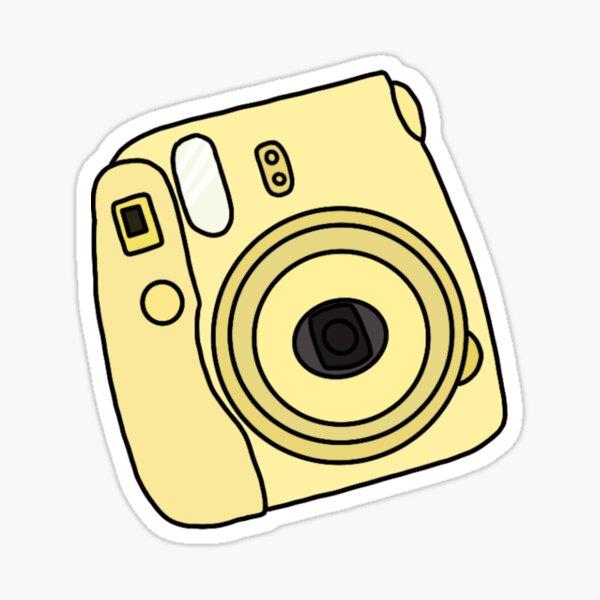 Yellow Polaroid Camera Stickers Redbubble