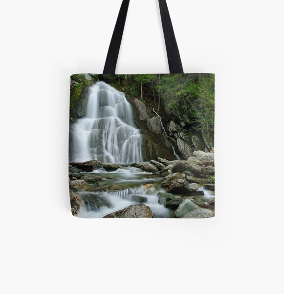 Moss Glen Falls - Midstream All Over Print Tote Bag