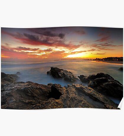 Dawn at the Rocks Poster