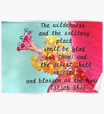 Isaiah 35:1 Poster