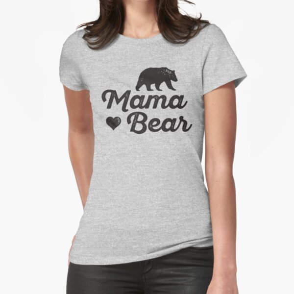 Mama Bear Fitted T-Shirt