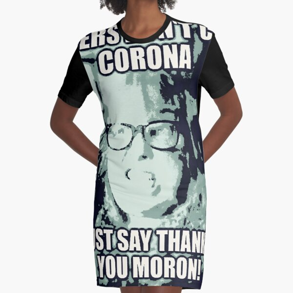 Just Say Thank you Graphic T-Shirt Dress