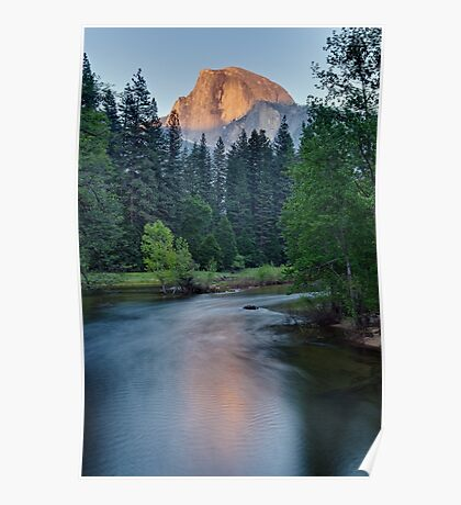 Half Dome Sunset - HDR Poster