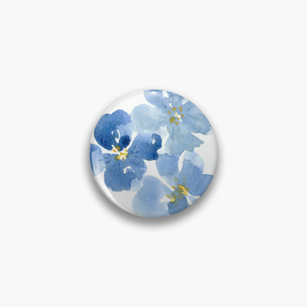 Little Blue Flowers ~ Stickers Pin