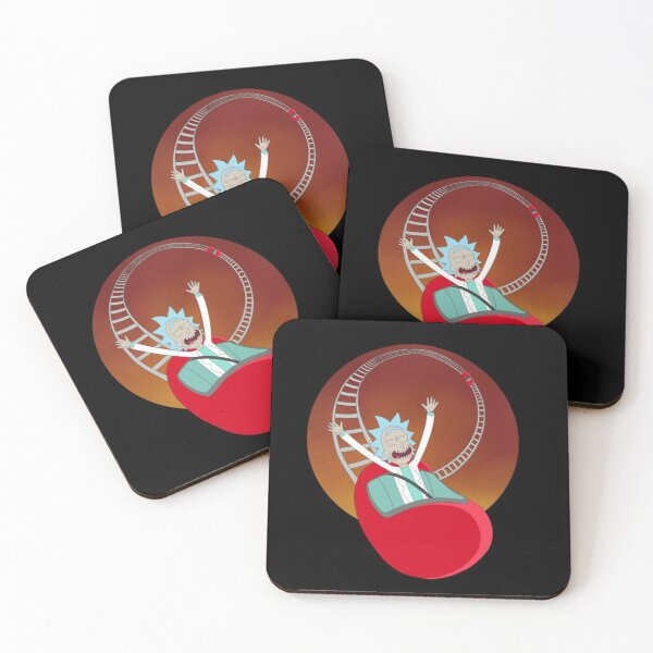 Kidney Coaster Coasters (Set of 4)