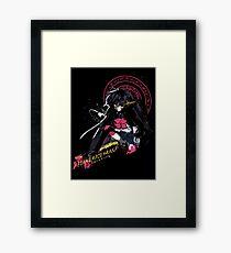 Black Flame Shana Framed Print
