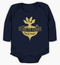 Schrute Farms B&B (no circles) One Piece - Long Sleeve