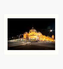 Flinders Station Art Print