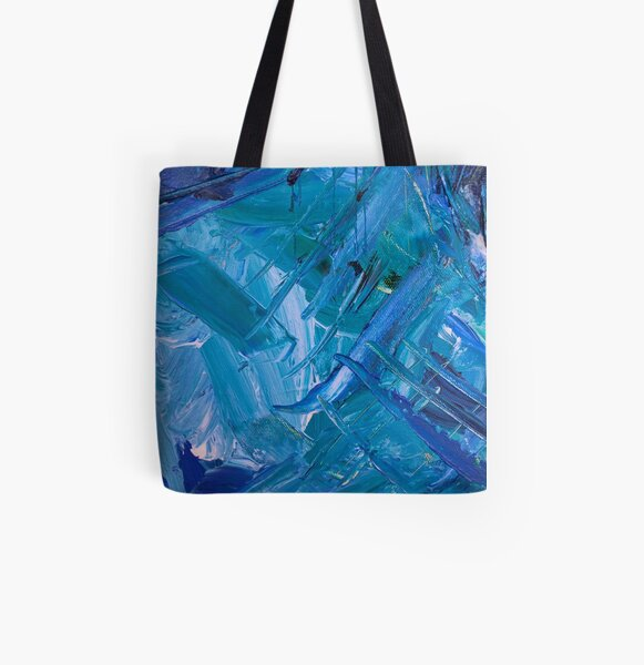 Blue Watercolor Painting All Over Print Tote Bag