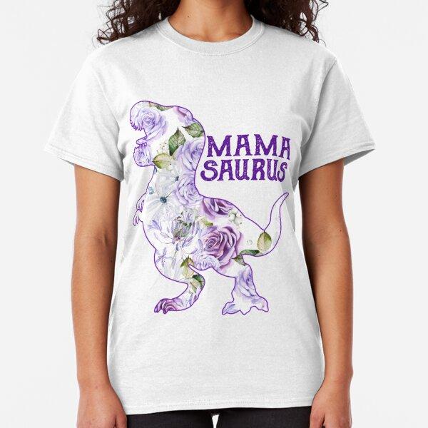 Marent Codde Mamasaurus Riding Babysaurus Funny Mama Saurus Long Sleeve T-Shirt