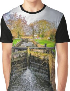 The Lock  Ripon Canal Graphic T-Shirt