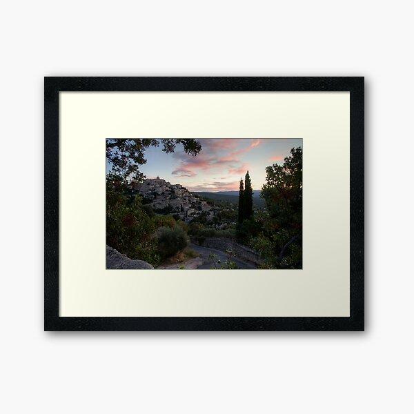 Sunrise at Gordes Framed Art Print