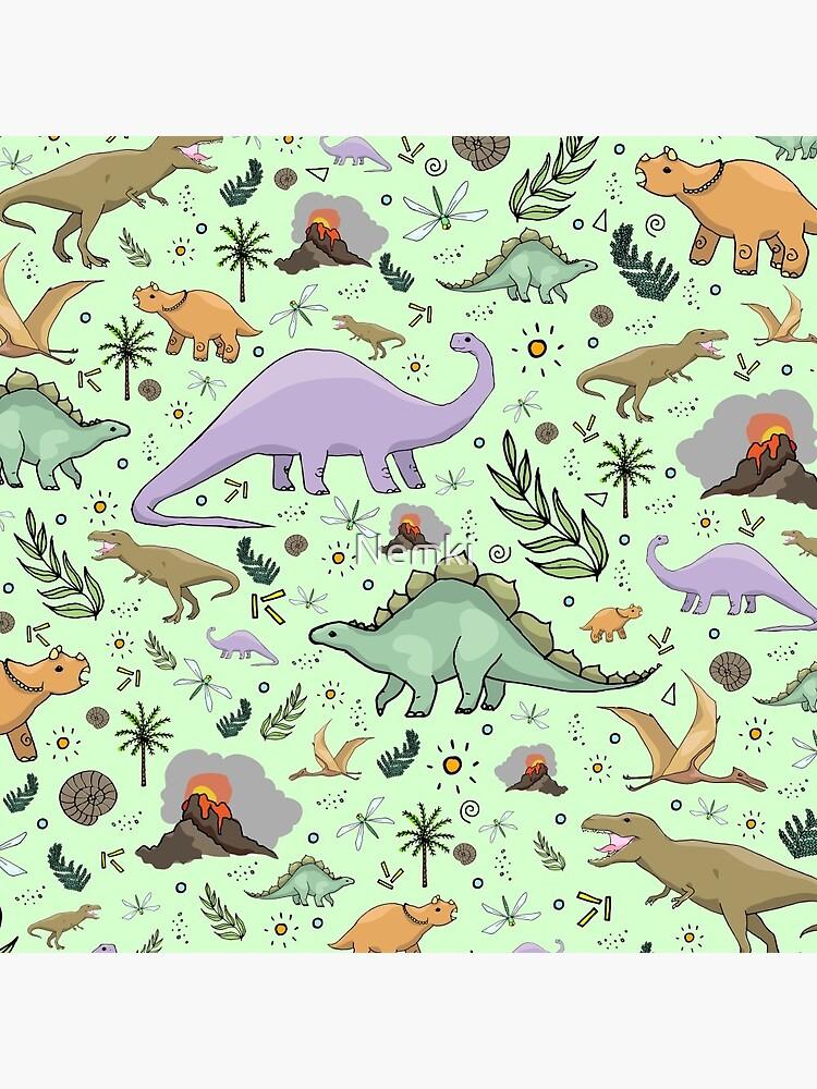 Dinosaurs in Green by Nemki