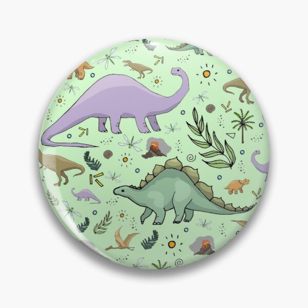 Dinosaurs in Green Pin