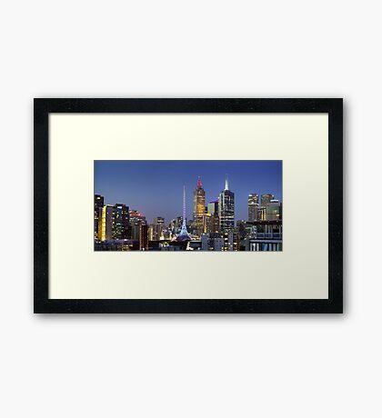 Melbourne City Lights Framed Print
