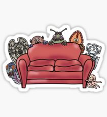 Behind the sofa Sticker