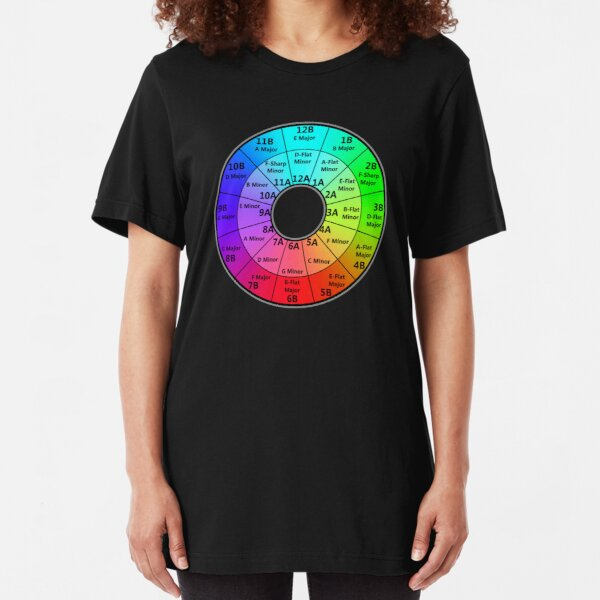 Harmonic Mixing Camelot Wheel - Deejays Slim Fit T-Shirt