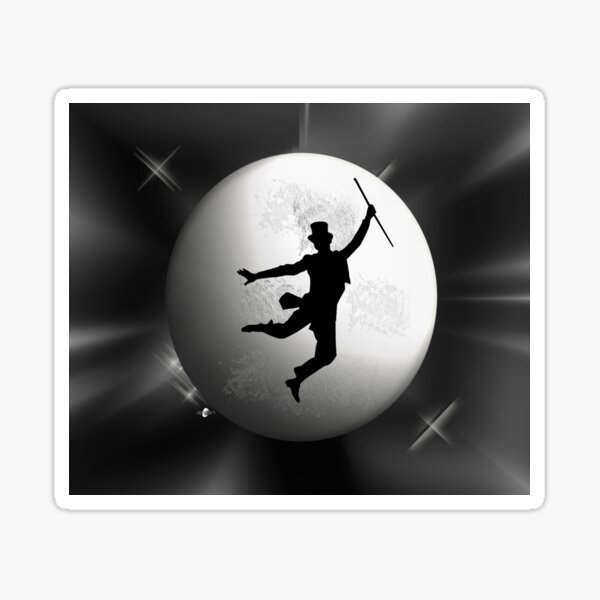 Moon: dancing man Sticker