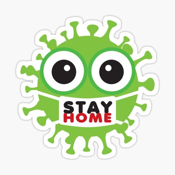 Stay Home Coronavirus Pegatina