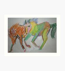 Painted Horses Art Print